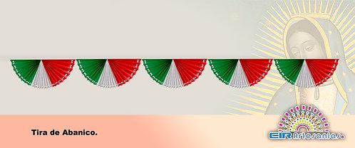 Tira de Abanico Tricolor. Paquete con 10 tiras