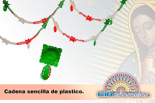 Cadena Sencilla de plástico. Paquete con 10 Tiras