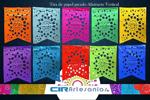 Paquete con 10 tiras de papel picado Abstracto Vertical