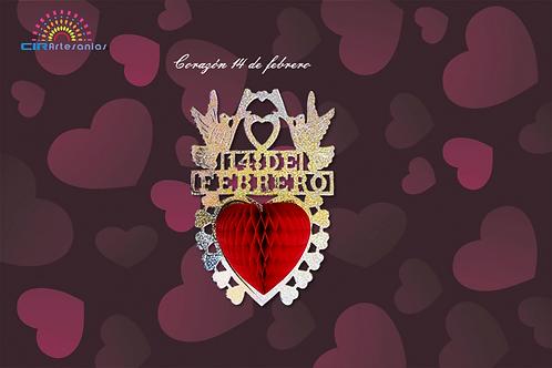 Corazón 14 de febrero