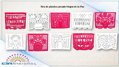 Paquete con 10 Tiras de plástico picado Virgen de la Paz