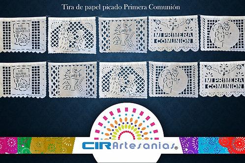 Paquete con 10 tiras de papel picado Primera Comunión