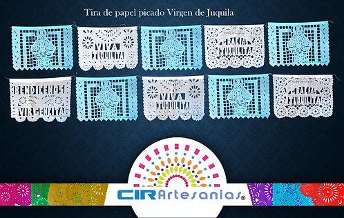 Paquete con 10 Tiras de papel picado Virgen de Juquila