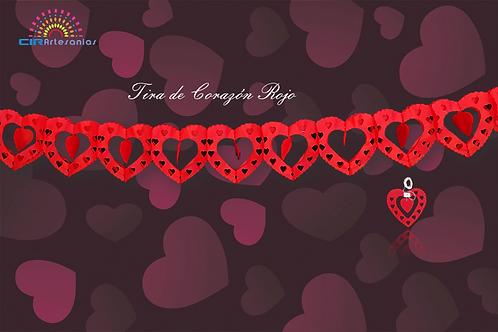 Paquete con 10 Tiras de corazon