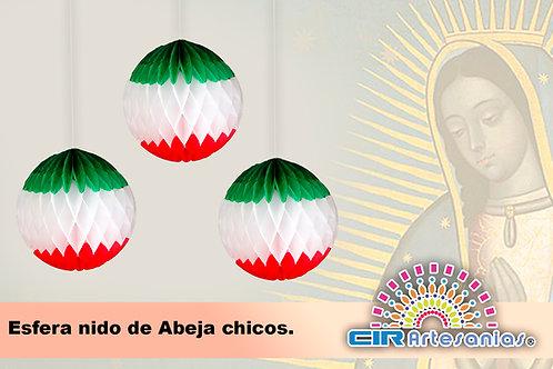 Esfera Nido de Abeja, Chica, Mediana y Grande.  Tricolor
