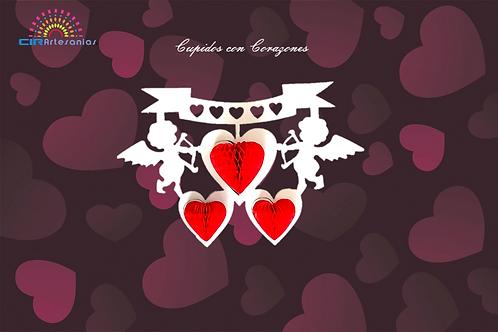 Cupidos con Corazones