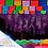 Thumbnail: Paquete con 10 tiras de plástico picado Abstracto 2 Multicolor