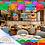 Thumbnail: Paquete con 10 tiras de papel picado Multicolor con diseños de Restaurant