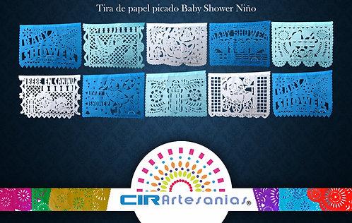 Paquete con 10 tiras de papel picado Baby Shower