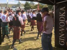 Pipers on parade. Biggin Hill