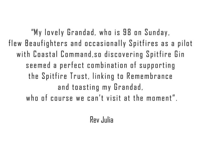 Rev Julia and her Spitfire Grandad