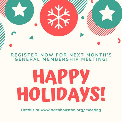 Register Now for January 2020 General Membership Meeting