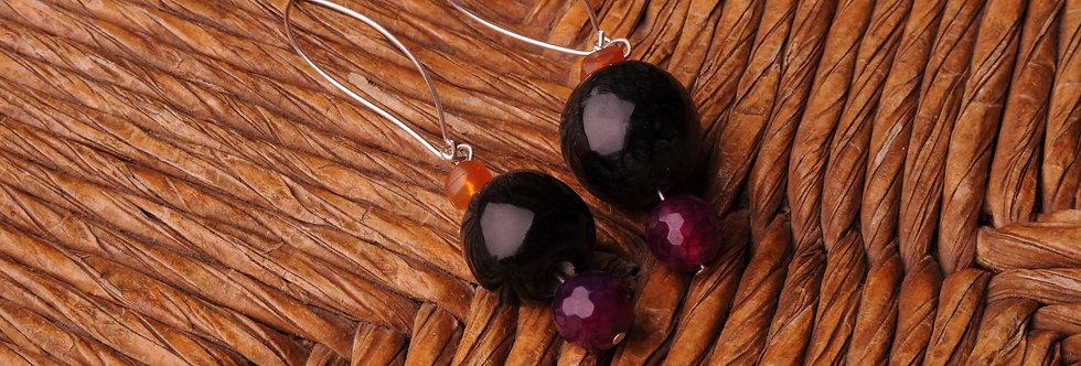 Bullhorn Beaded earrings
