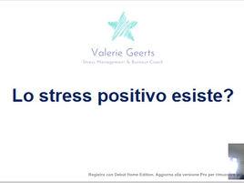 Lo stress positivo esiste?
