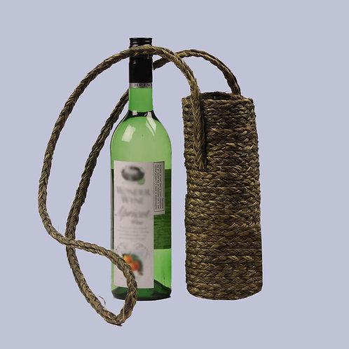 Green Sabaii Grass 1L Wine Bottle Holder