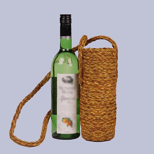 Brown Sabaii Grass 1L Wine Bottle Holder