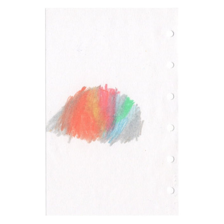untitled, 2021, colored pencil on paper, 3.1 x 4.9 in