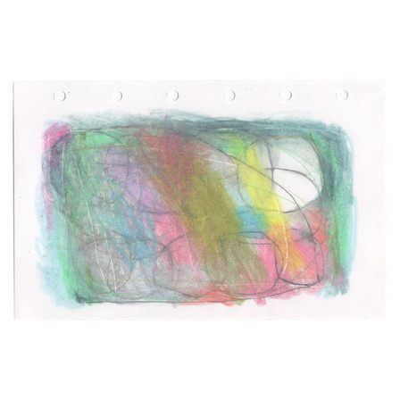 untitled, 2021, colored pencil on paper, 4.9 x 3.1 in