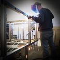 588 saldatura del telaio in acciaio inox