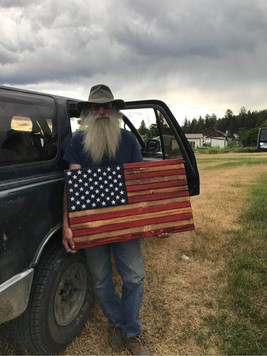 A special veteran and his flag
