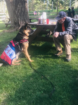Clint making friends at the HA 9/11 Fundraiser