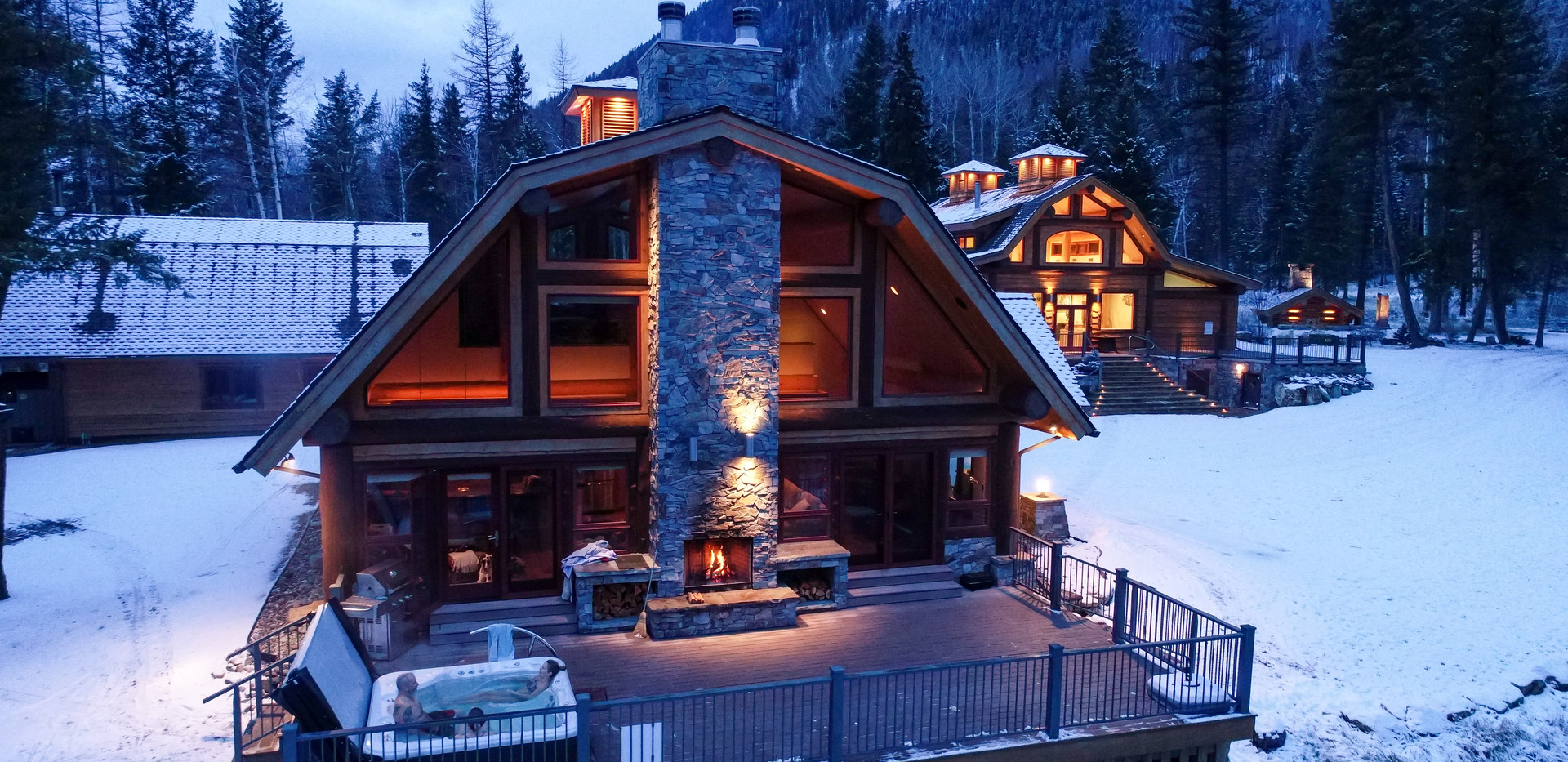 Winter Cabin Deck