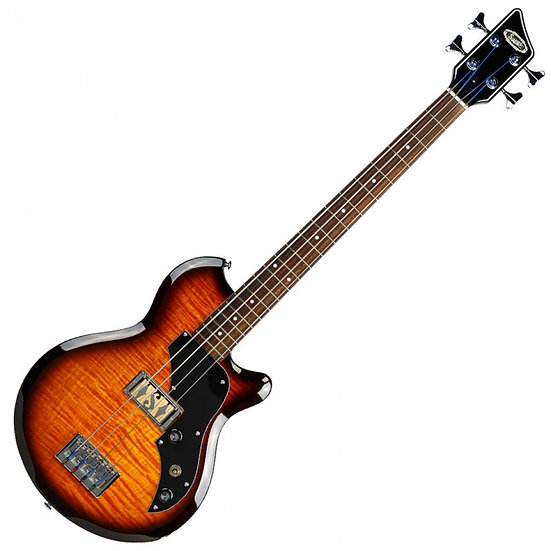 SUPRO HUNTINGTON 1 BASS W/PIEZO ~ TOBACCO SUNBURST FLAME
