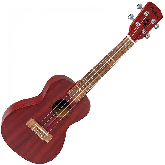LAKA CONCERT UKULELE & BAG - RED