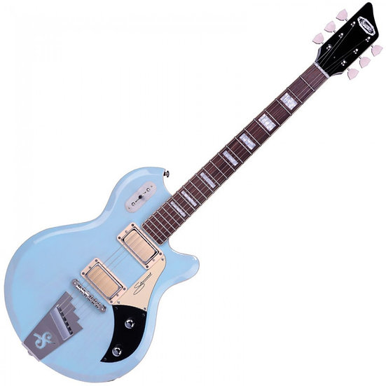 SUPRO SILVERWOOD GUITAR ~ DAPHNE BLUE/NATURAL ASH