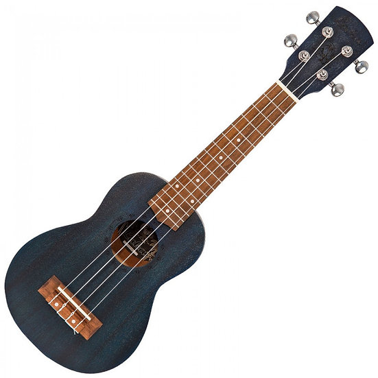 LAKA ACOUSTIC UKULELE & BAG ~ SOPRANO ~ MIDNIGHT BLUE