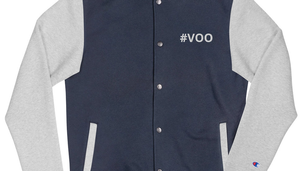 #VOO Embroidered Champion Bomber Jacket