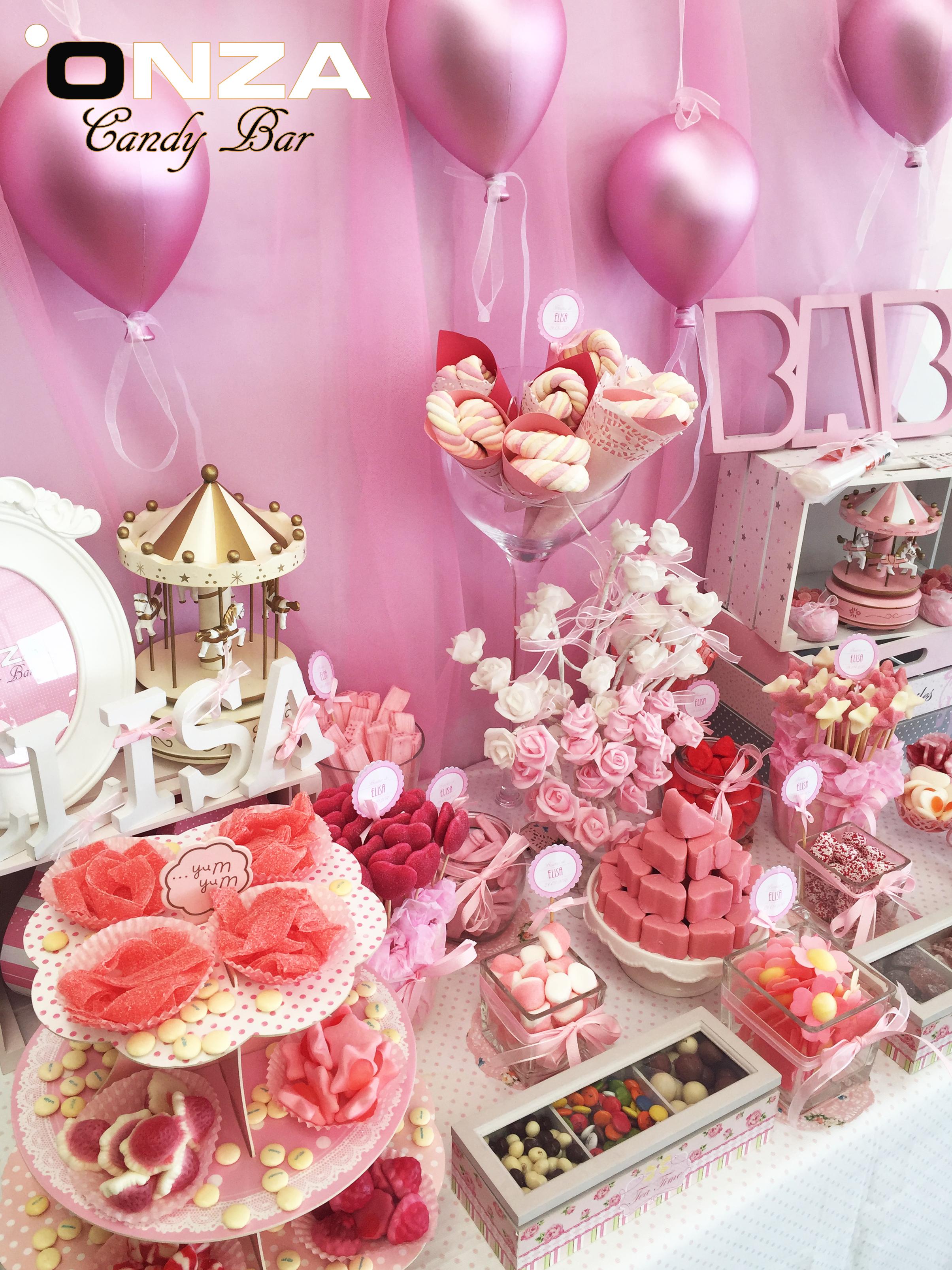 Onza candy bar tartas de chuches mesas dulces - Decoracion en valencia ...