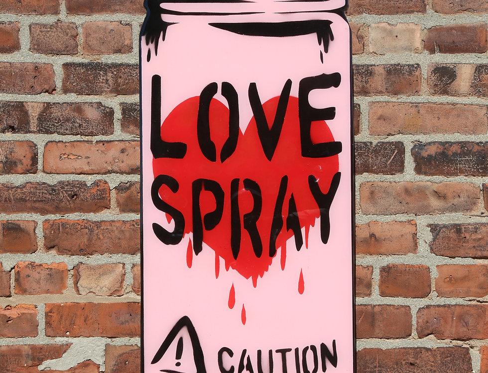 Pink LoveSpray Woodcut