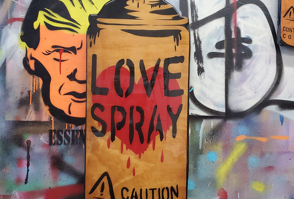 LoveSpray (woodcut)