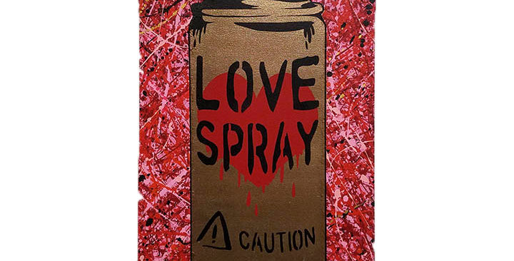 LoveSpray Collab with Pitch-black (18x36)