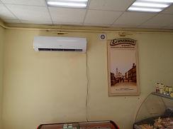 Установка кондиционера в магазине