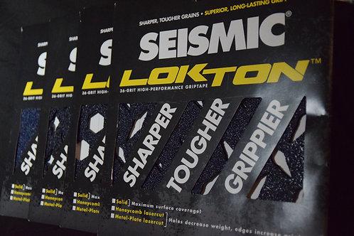 Seismic Lokton Griptape, 36-grit, 3-square pack