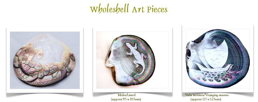 Whole Shell Carvings
