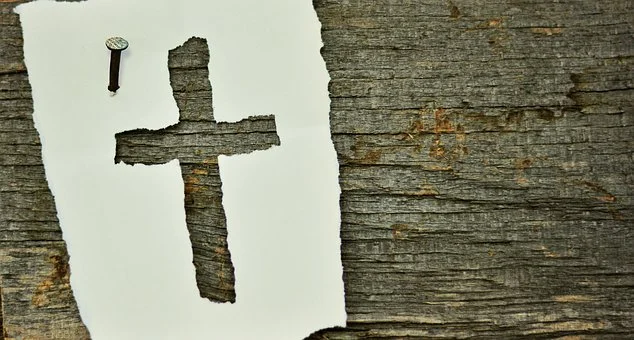 cross on paper