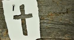 cross on paper
