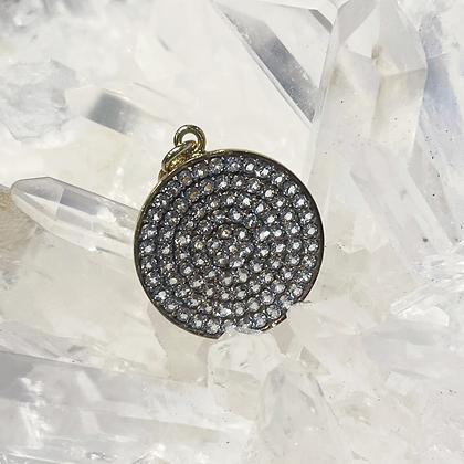 Round White Sapphire Pendant