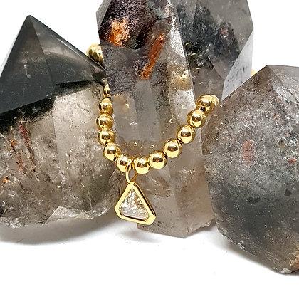 Triangle Rose Cut Diamond Pendant