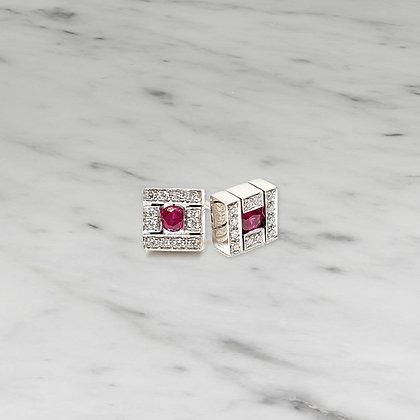 Belle Epoque Ruby Earrings