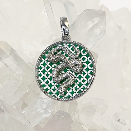 Green Weave Ophidia Charm