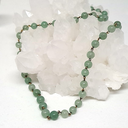 Green Aventurine Rosary Chain Necklace