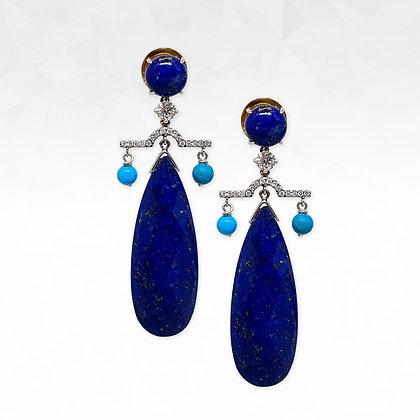 Lapis Lazuli Dangling Earrings