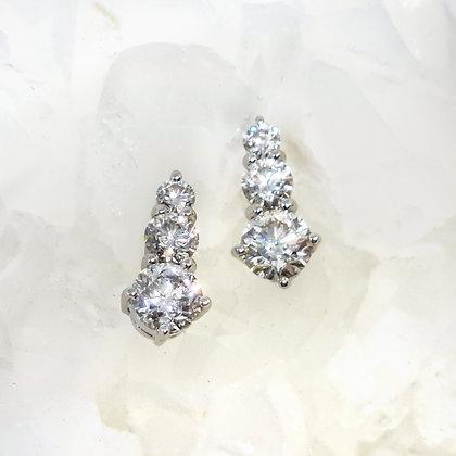 Trio Diamond Earrings
