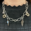 Thumbnail: White Sapphire and Smoky Topaz Drop Necklace