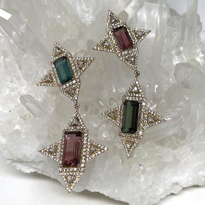 Reverse Tourmaline Earrings