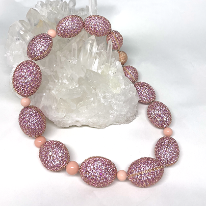 Candy Pink Sapphire Necklace